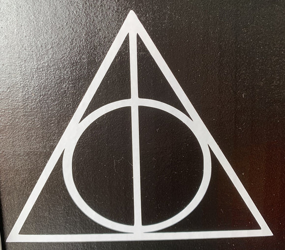 Harry Potter Deathly Hallows Symbol Vinyl Decal