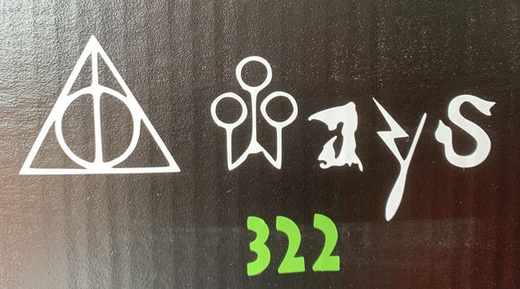 Harry Potter Always Deathly Hallows Vinyl Decal
