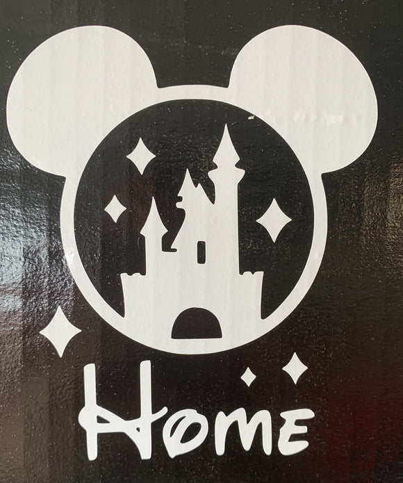 Disney Mickey Head with Magic Kingdom is HOME Vinyl Decal
