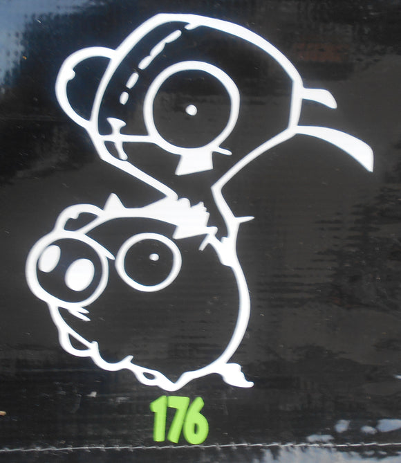 Invader Zim with Moog Vinyl Decal