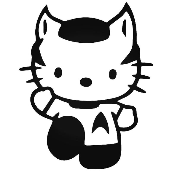 Hello Kitty Spock Vinyl Decal