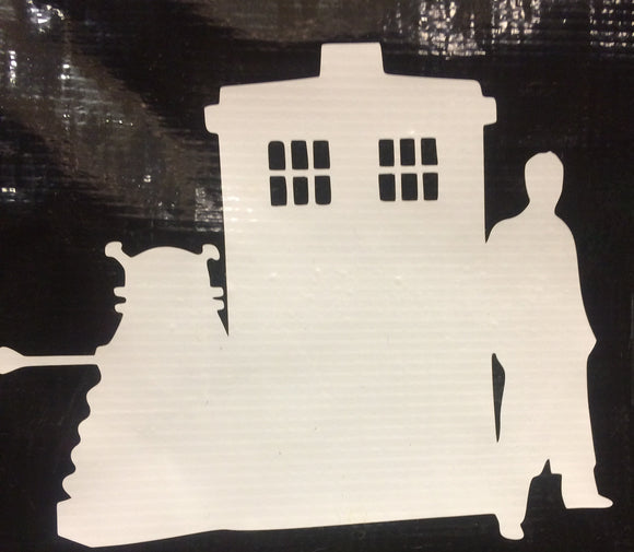 Dr. Who Trio Vinyl Decal