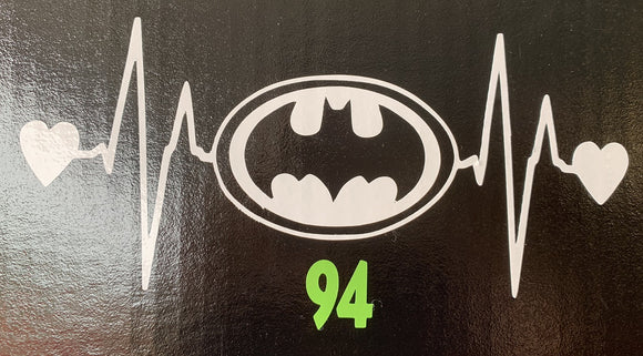Batman Heartbeat Vinyl Decal