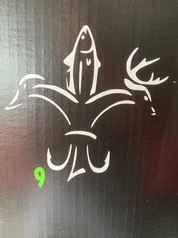 Deer, Duck & Fish Crest Vinyl Decal