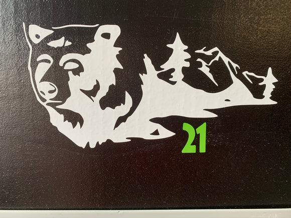 Bear Silhouette Vinyl Decal