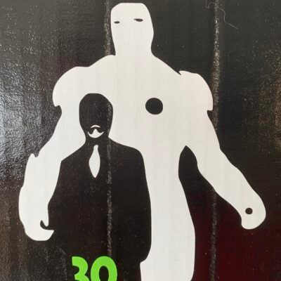 Tony Stark Iron Man Silhouette Vinyl Decal