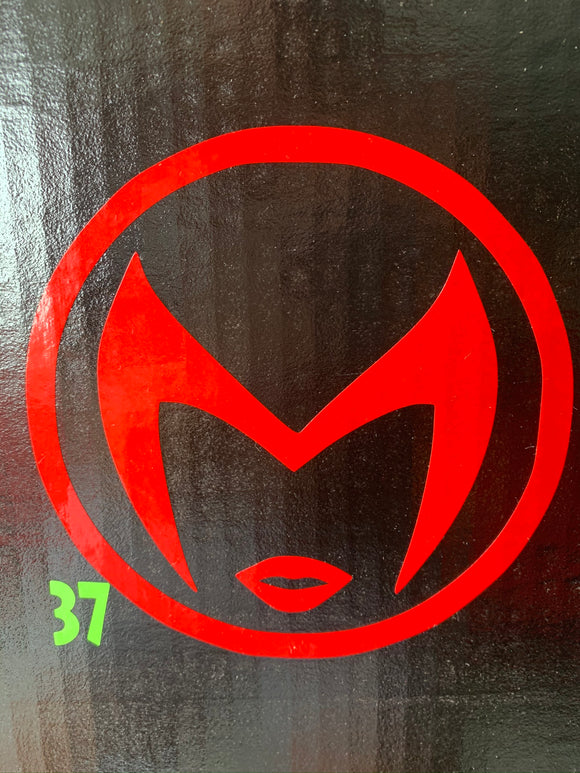 Scarlet Witch Logo Vinyl Decal
