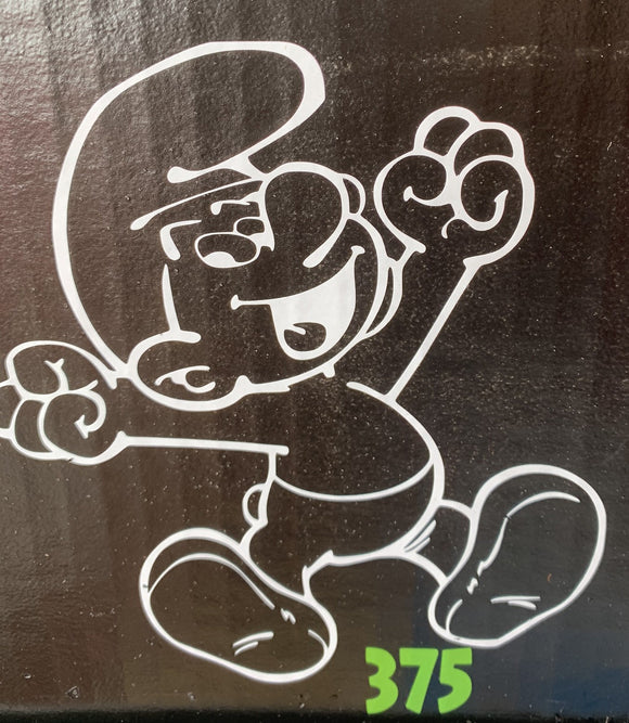 Happy Smurf Vinyl Decal