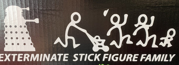 Dalek Exterminate Your Stick Figure Family