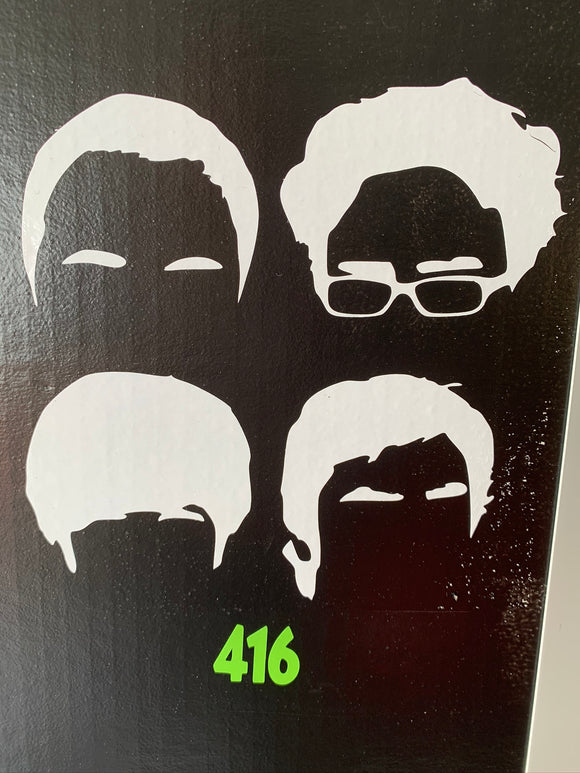 Big Bang Theory Sheldon, Raj, Leonard & Howard Decal