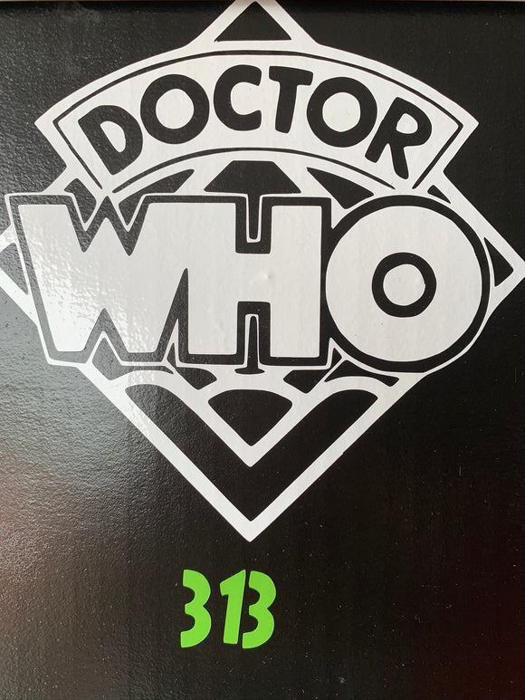 Dr. Who logo sticker