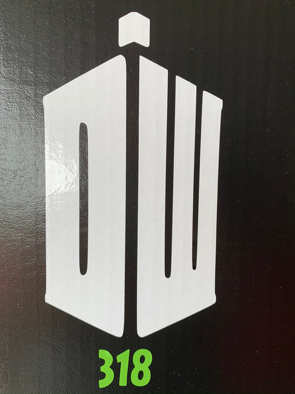 Dr. Who DW Tardis Logo Vinyl Decal