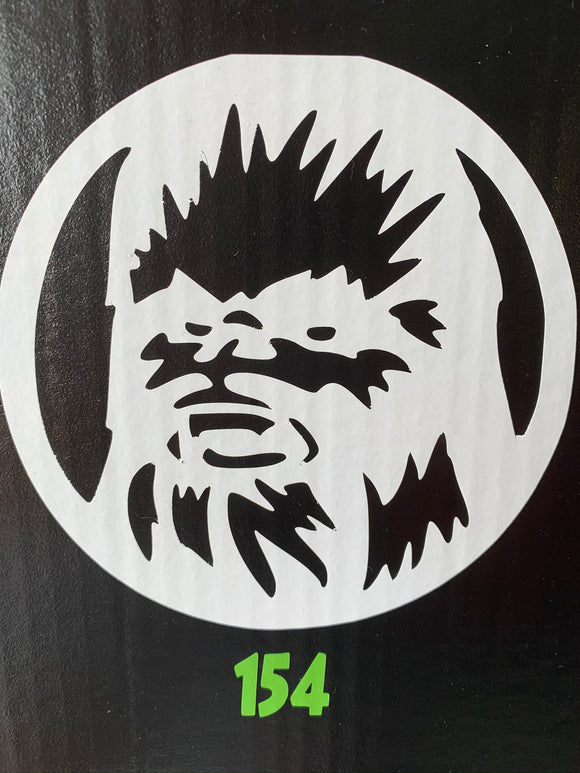 Star Wars- Chewbacca Head Vinyl Decal