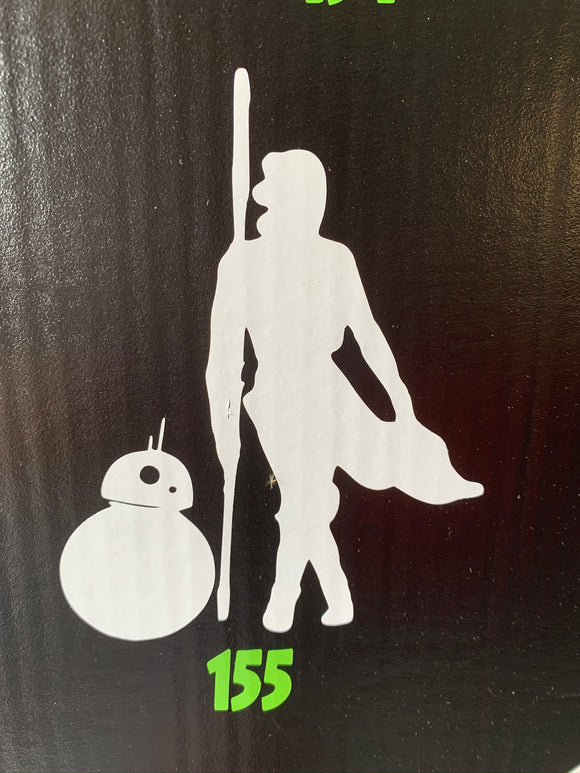 Star Wars- Rey and BB8 Vinyl Decal