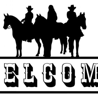 Welcome Cowboy Sign Vinyl Decal