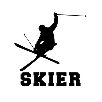 Skier Silhouette Decal