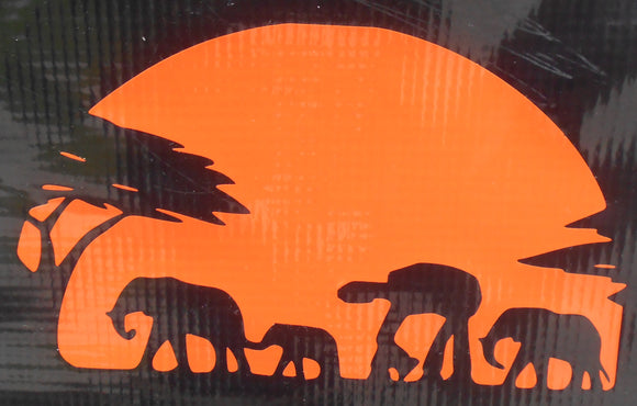 AT-AT Safari Sunset Vinyl Decal
