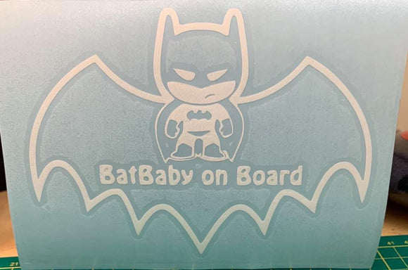 Baby Bat on Board Vinyl Decal