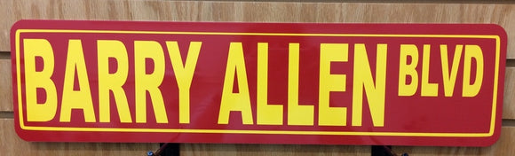Barry Allen Blvd Metal Street Sign