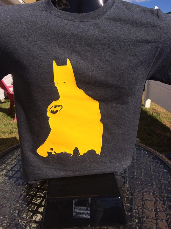 Batman Silhouette with Parents T-Shirt