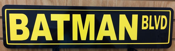 Batman Blvd Metal Street Sign