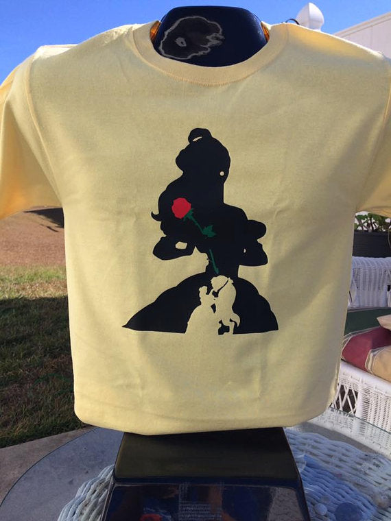 Beauty & the Beast Belle Custom Silhouette T-Shirt