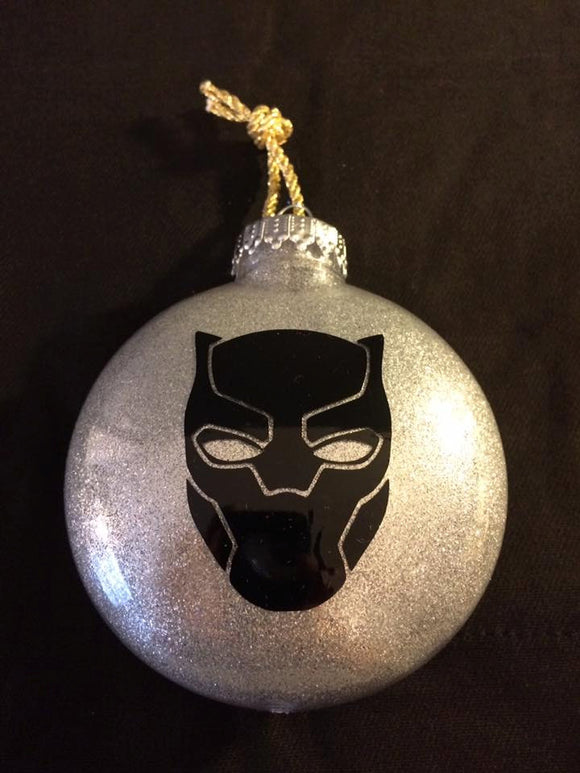 Black Panther Custom Christmas Ornament
