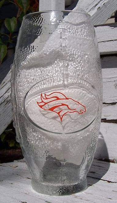 NFL Denver Broncos Football Glass