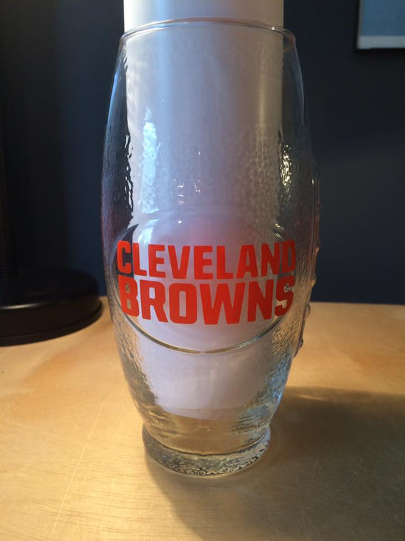 NFL Cleveland Browns Football Glass