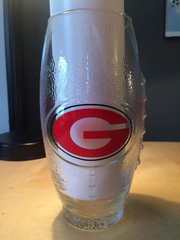 Georgia Bulldogs Football Glass