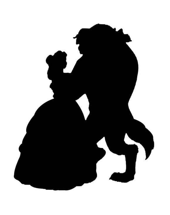 Beauty and The Beast Silhouette Vinyl Decal