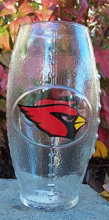 NFL Arizona Cardinals Football Glass
