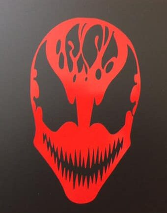 Carnage Face Vinyl Decal