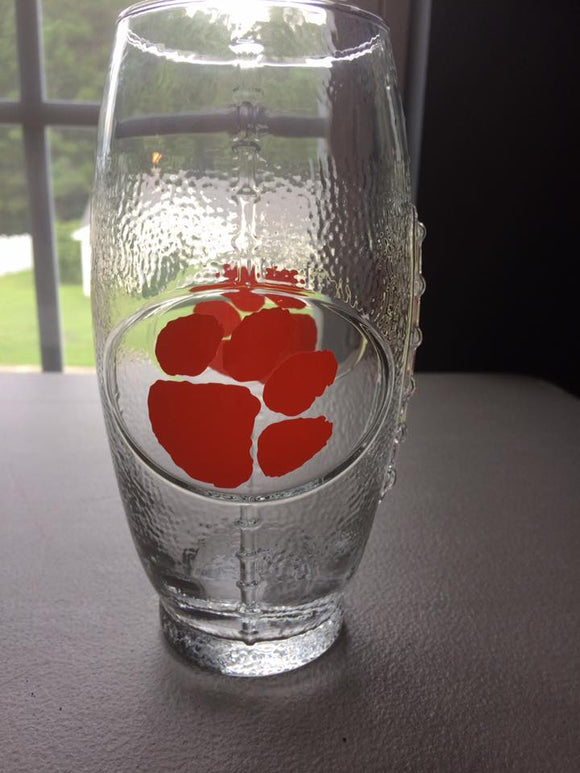 Clemson Tigers Football Glass