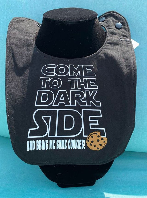Star Wars: come to the Dark Side & Bring Me Some Cookies Baby Bib