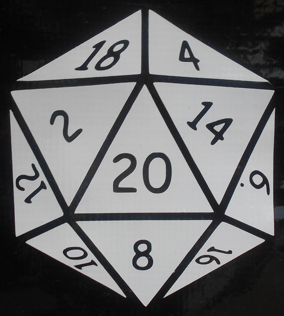 D20 Dice Vinyl Decal
