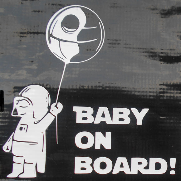 Baby Vader on Board Vinyl Decal