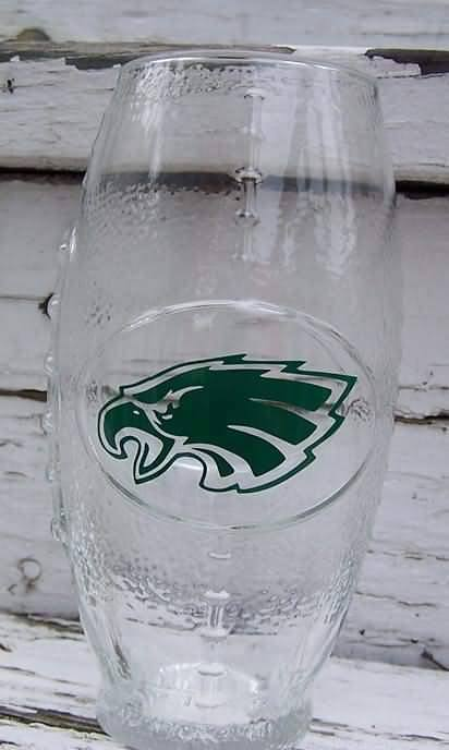 NFL Philadelphia Eagles Football Glass