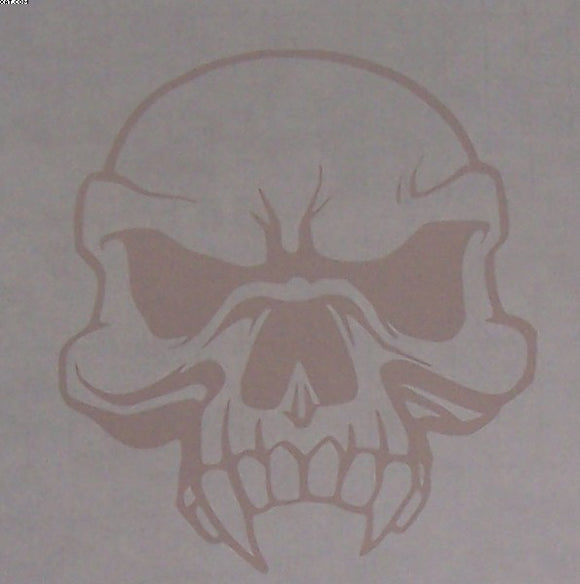 Skull with fangs sticker