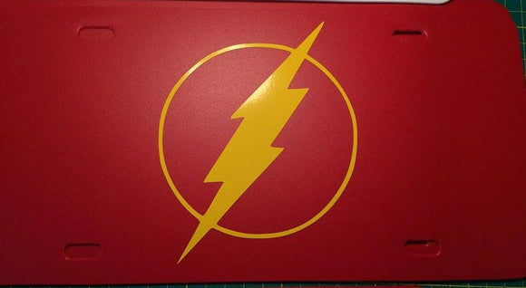 Flash Logo License Plate