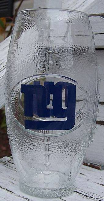 NFL New York Giants Football Glass