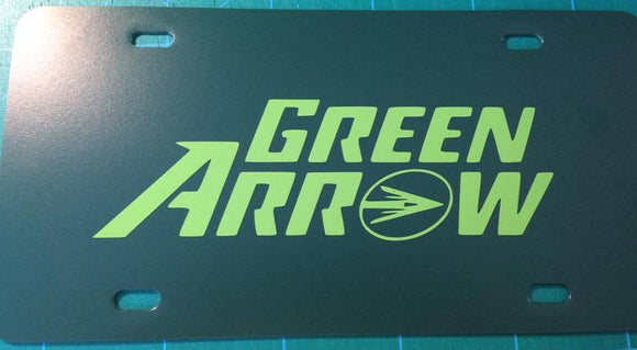 Green Arrow License Plate