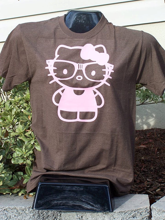 Hello Kitty with nerd glasses T-Shirt
