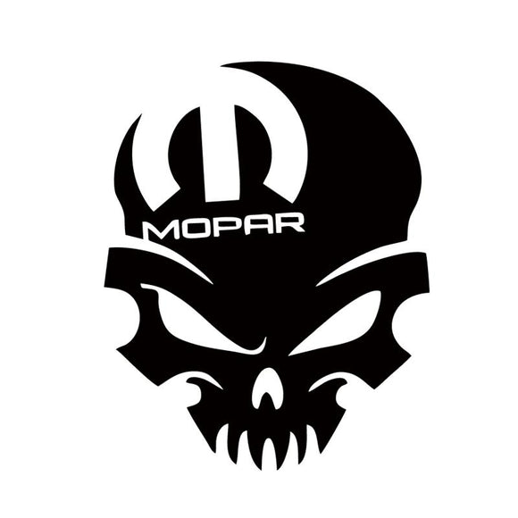 Mopar Skull Vinyl Decal
