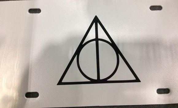Harry Potter Deathly Hallows Logo License Plate