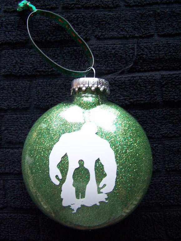 Incredible Hulk Silhouette Christmas Ornament