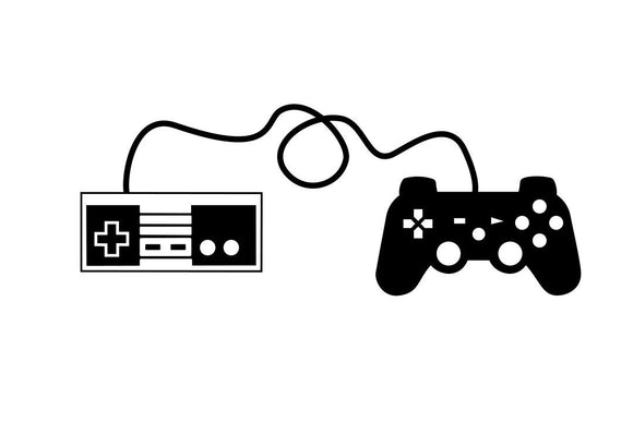 Video Game Controllers Vinyl Decal