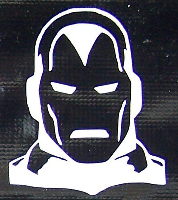 Classic Iron Man head sticker