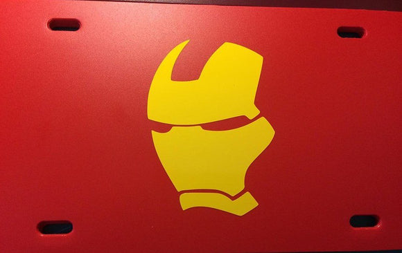 Iron Man Helmet License Plate