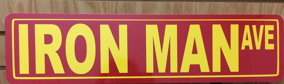 Iron Man Ave Metal Street Sign